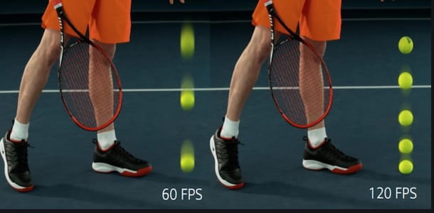 Differenza grafica tra 60 e 120 fps