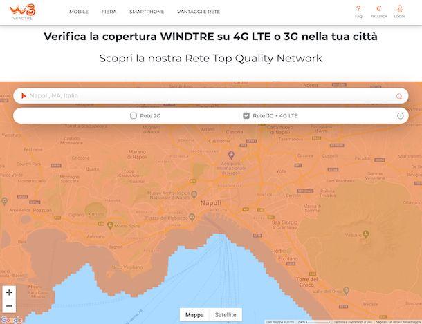 Verifica copertura WINDTRE mobile