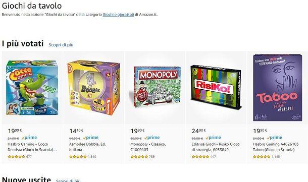 Amazon giochi da tavolo