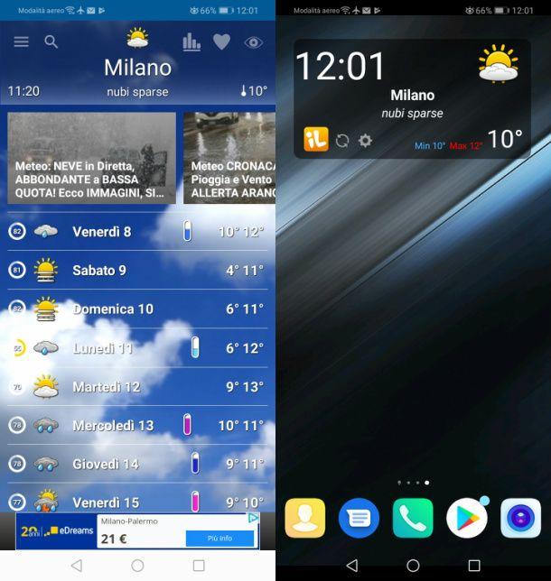 App Il Meteo su Android