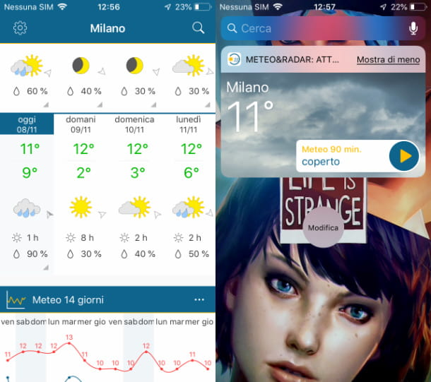 App Meteo&Radar su iOS