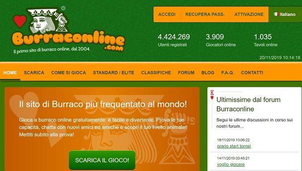 Burraconline sito Web