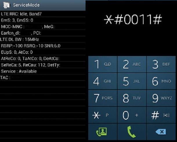 Come trovare le frequenze sul mio cellulare tramite ServiceMode