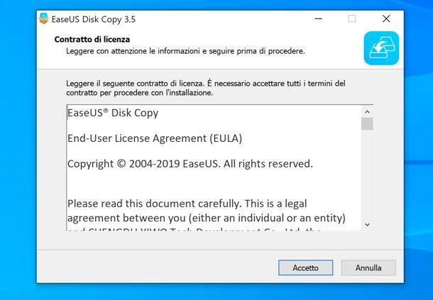 Installazione di EaseUS Disk Copy Professional