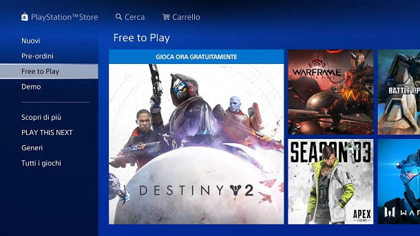 Free to Play PlayStation Store
