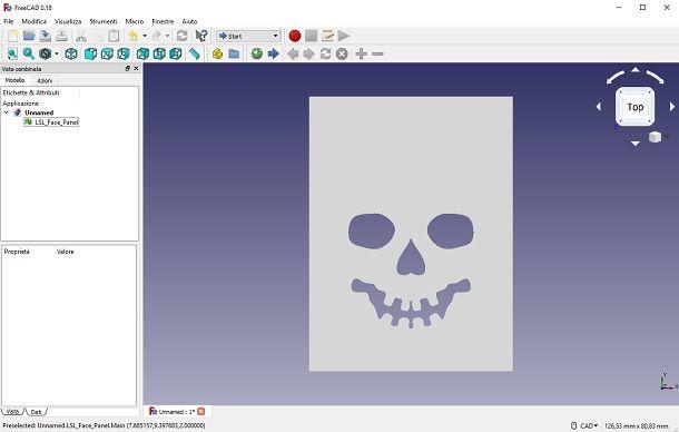 FreeCAD Interfaccia Grafica