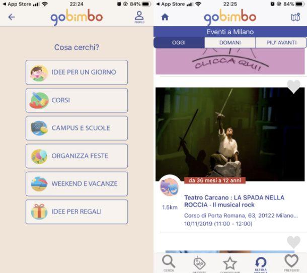 Gobimbo app eventi bambini