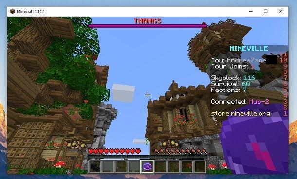 Hub Mineville Minecraft