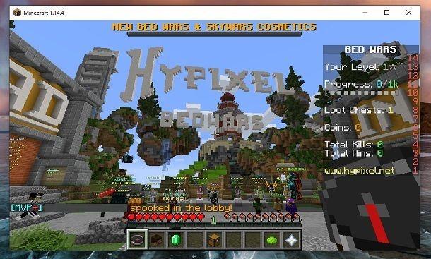HyPixel BedWars Minecraft