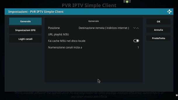 Kodi per IPTV