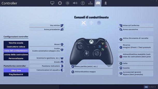 Migliori tasti Fortnite PC con controller