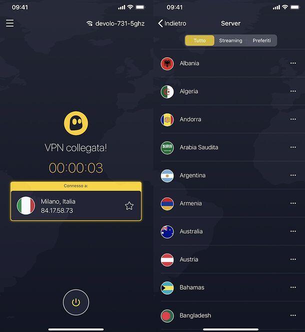 App CyberGhost VPN