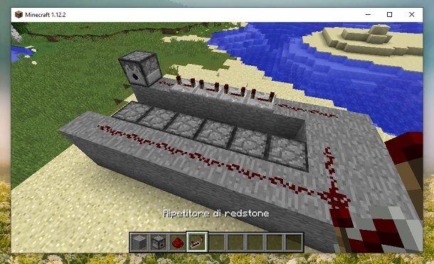 Ripetitore di redstone 2 Minecraft