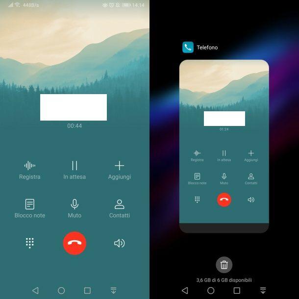Utilizzare altre app durante una chiamata