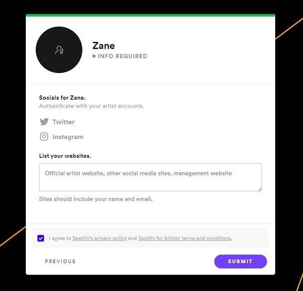 Verifica profilo Spotify