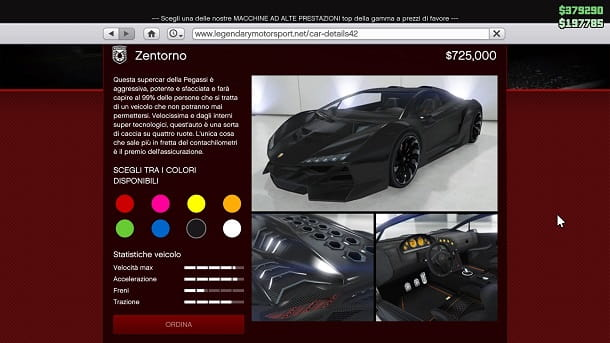 Pegassi Zentorno GTA Online