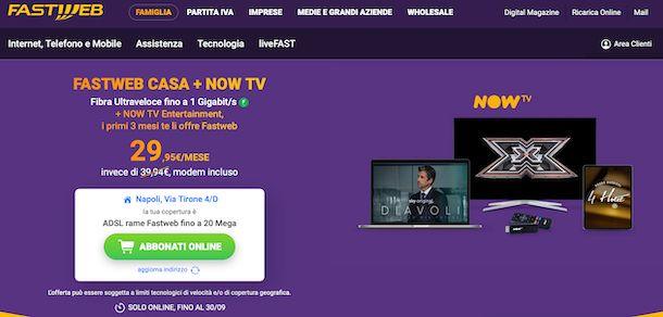 Fastweb casa + NOW TV