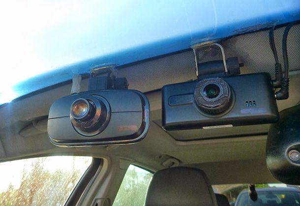 Foto di una Dash cam in auto