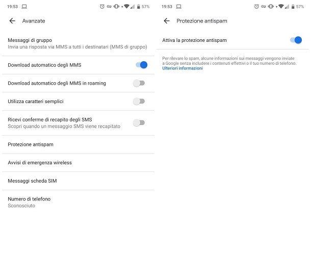 Come bloccare SMS senza numero su Android