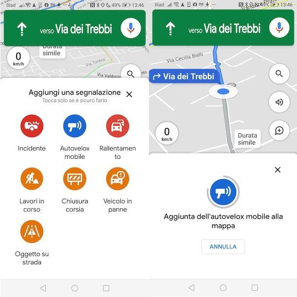 Come aggiornare Google Mapscon autovelox