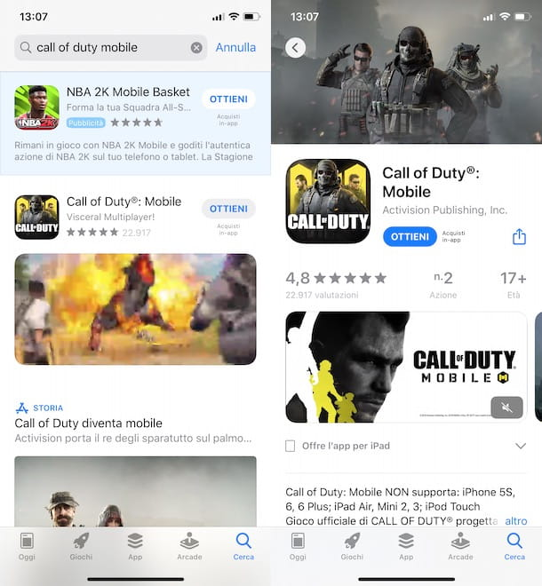 Come scaricare Call of Duty Mobile iOS