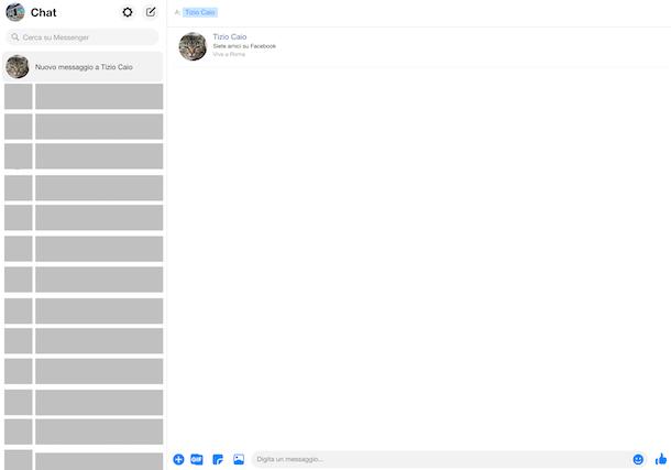 Messenger chat Web