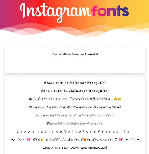 Instagramfonts