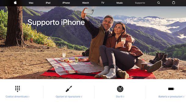 Supporto Apple per iPhone
