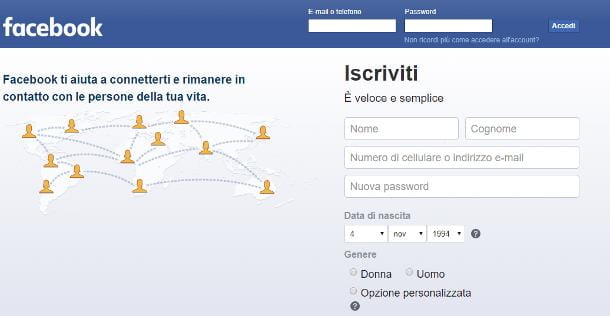 Come memorizzare password Facebook