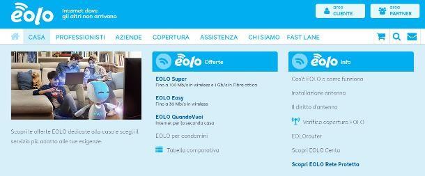 Offerte Internet casa senza telefono Eolo