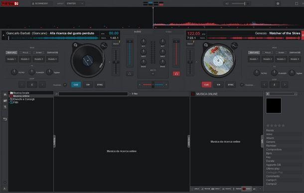 Procedere all'unione di due tracce su Virtual DJ