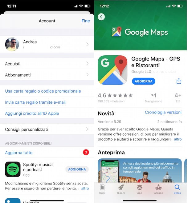 Come aggiornare Google Maps su iPhone