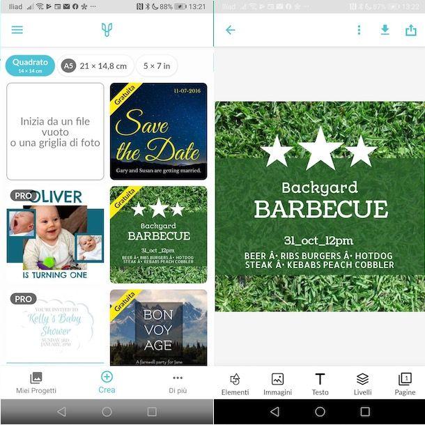 App per creare inviti su Android