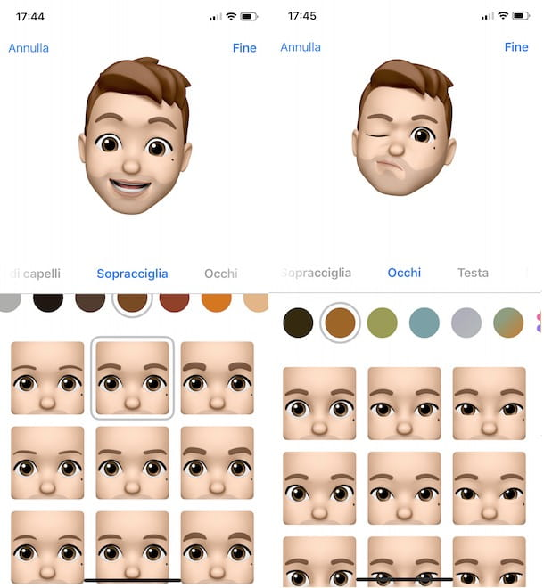 Creare Memoji su iPhone