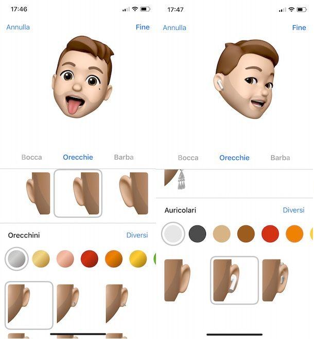 Personalizzare Memoji su iPhone