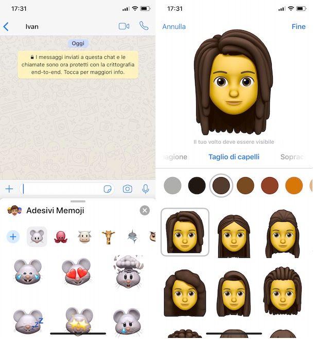 Come creare Memoji iPhone da WhatsApp