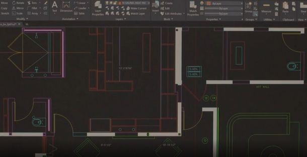 La complessa interfaccia professionale di AutoCAD LT