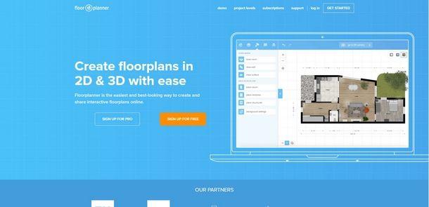Creare planimetrie 3D con Floorplanner