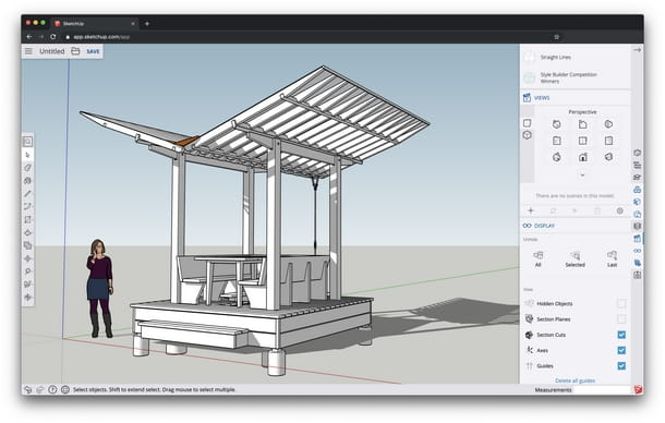 Interfaccia d'uso di SketchUp