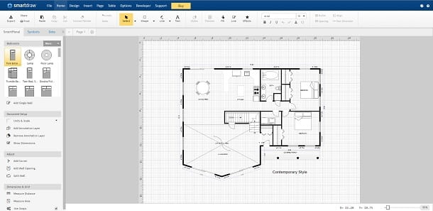 Interfaccia di SmartDraw