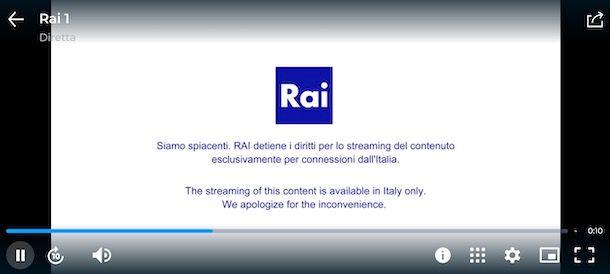 Accedere a RaiPlay dall'estero