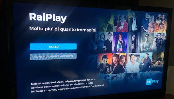 Accedere a RaiPlay da TV