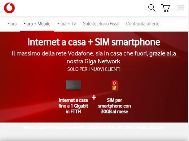 Offerte ADSL senza linea telefonica Vodafone