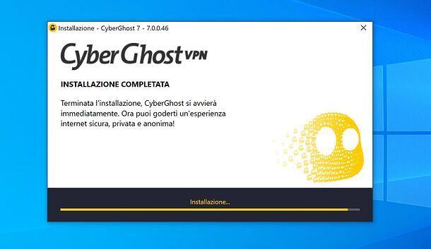 Installazione di CyberGhost VPN