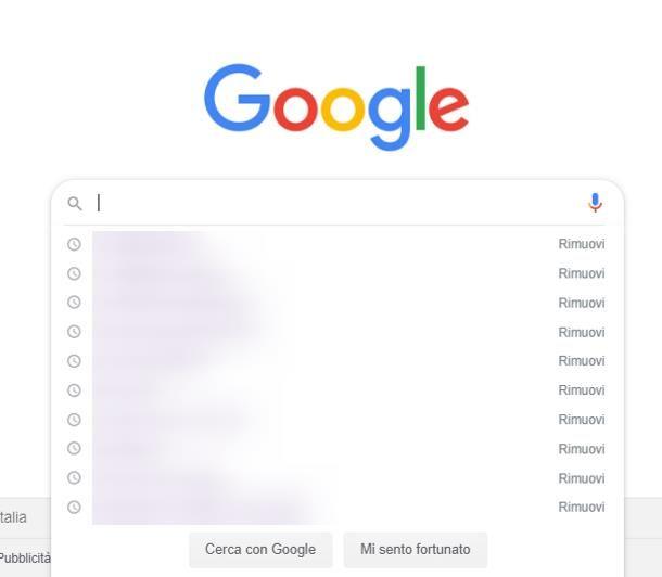 Come eliminare ricerche di tendenza su Google