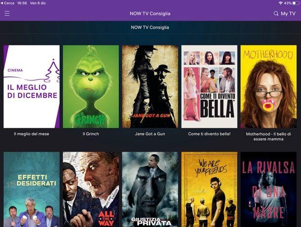 NOW TV su iPad