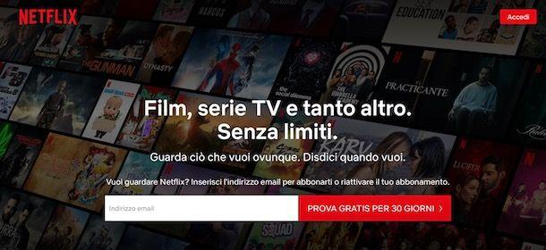 Prova gratuita di Netflix