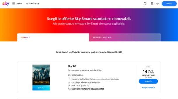 Offerte Sky TV