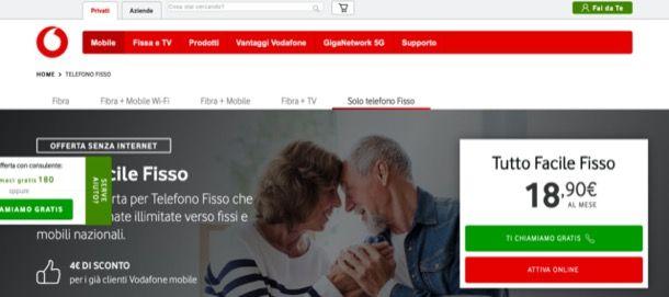 Vodafone Tutto Facile Fisso