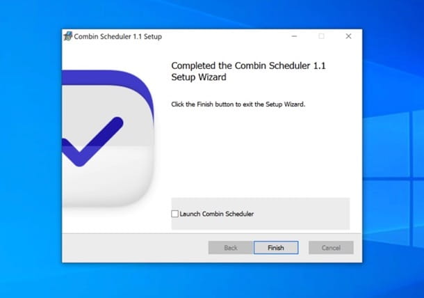 Installazione Combin Scheduler su Windows